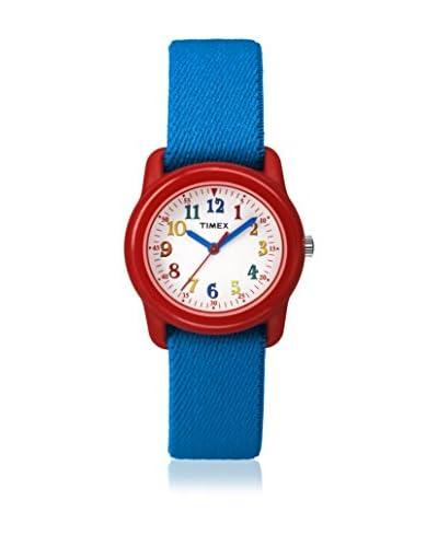 Timex Orologio al Quarzo Kids Youth Kidz Analog Blu/Rosso 29 mm