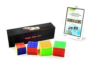 Taryana Magic Cube Puzzle 2X2X2 3X3X3 4X4X4 5X5X5 Pack ~ Cyclone Boys ~ Stickerless