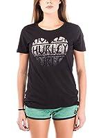 Nike Hurley Camiseta Manga Corta Strike Perfect Crew (Negro)