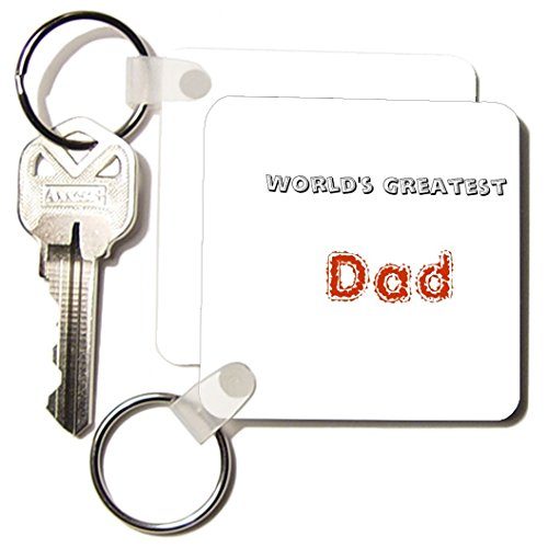 Kc_27926_1 Patricia Sanders Creations - Worlds Greatest Dad - Key Chains - Set Of 2 Key Chains