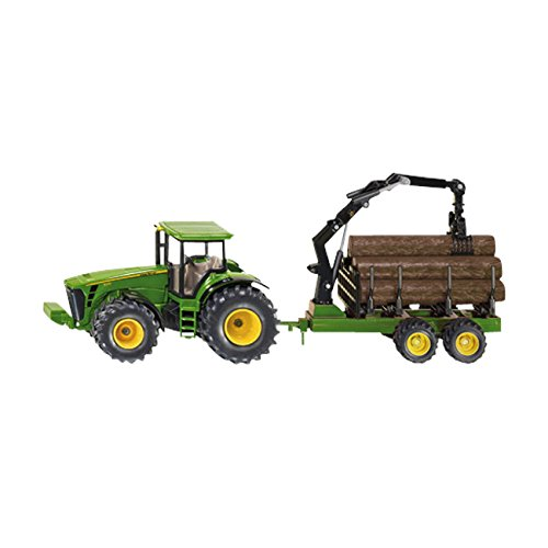 1:50 Siku John Deere Tractor With Forestry Trailer Model (John Deere Model M compare prices)
