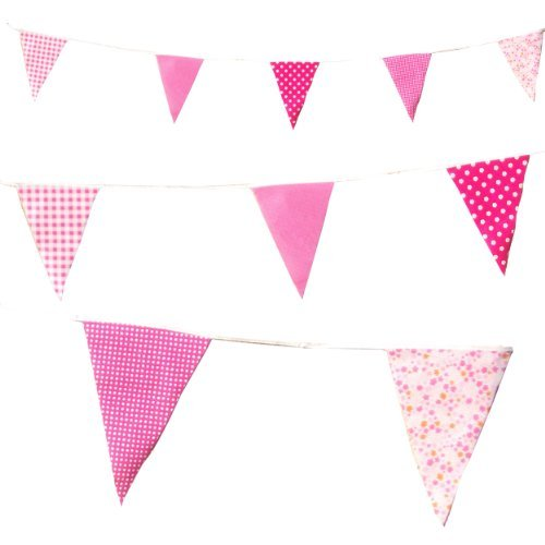 Pink Vintage Cottage Tea Party Bunting (C1004)
