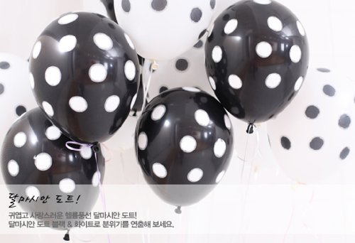 NEO 12'' Black and White Polka Dot Balloons(30pcs)
