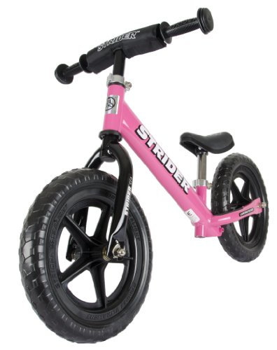 Strider Girl's Balance Bike - Pink, 12 Inch