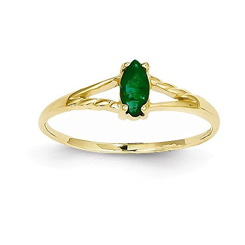 14k Emerald Birthstone Ring