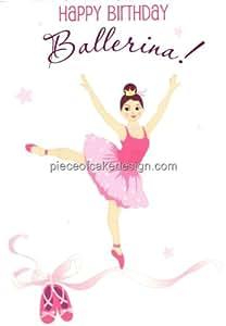 Buy happy birthday ballerina caucasian edible image cake for Angelina ballerina edible cake topper decoration sale