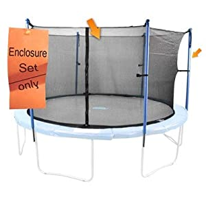 Upper Bounce 8 Pole Trampoline Enclosure Set with Strap Type Net (Trampoline not Included), 13-Feet at Sears.com