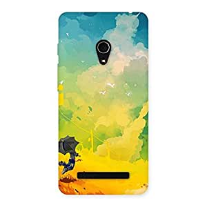 Flying With Umbrella Back Case Cover for Zenfone 5