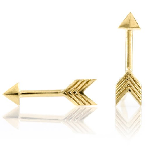 Katniss' Gold Plated Arrow Earrings - Inspired by the Hunger Games