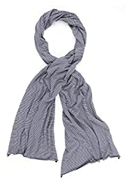 Lightweight Pure Cotton Striped Scarf