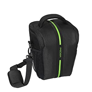 Pedea Tasche Toploader für Canon EOS 1200D, Nikon D5100, D3100, Olympus E-M1 OM-D, Sony Alpha 99 (Platz für Body und Objektiv, inkl. Tragegurt und 5 Zubehörfächern)