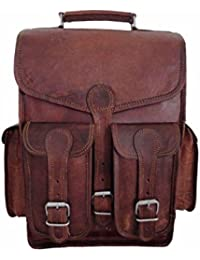 Pranjals House Vintage Handmade 13 Inch Genuine Leather 2 In 1 Shoulder Cum Backpack Bag For Boys & Men