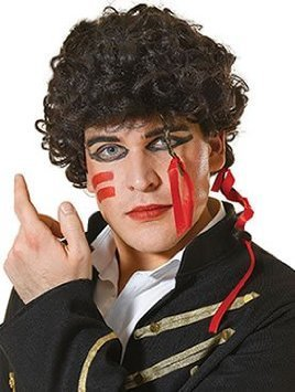 Adam Ant Wig. Dark brown, curly hair