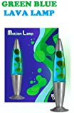 ABC New Funky Motion Lava Lamp Novelty Light, Green/ Blue