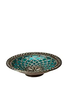 Amazon.com - Traditional Moroccan Ceramic Plate with Metal ...