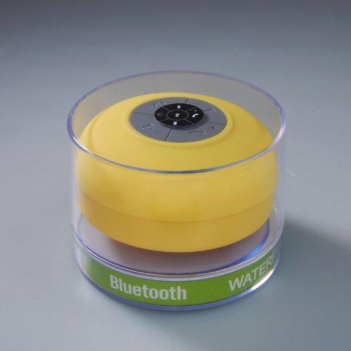 Eastvita® Splash Shower Tunes By Eastvita - Waterproof Bluetooth Wireless Shower Speaker Portable Speakerphone (Yellow)