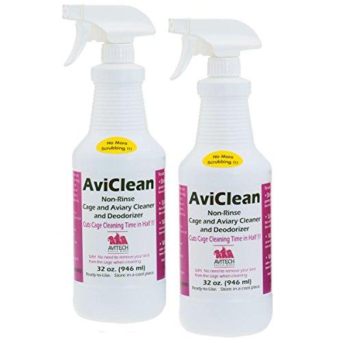 Avitech Aviclean Bird Cage Cleaner - 32oz  Pack of 2