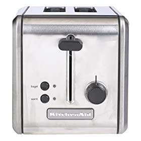 KitchenAid KMTT200SS 2-Slice Metal Toaster, Brushed Stainless Steel