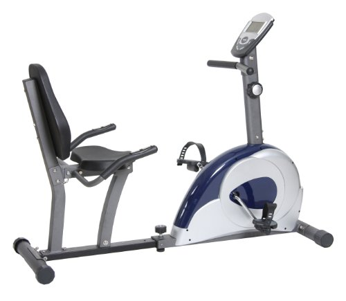 Body Max Magnetic Recumbent Bike with LCD Console