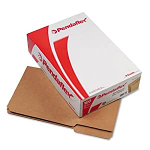 Pendaflex 2-Ply Dark Kraft File Folders, Straight Cut, Top Tab, Lgl, BN, 100 per Box (RK153-1/3)