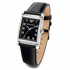 Emporio Armani Men's AR0206 Classic Black Dial Watch