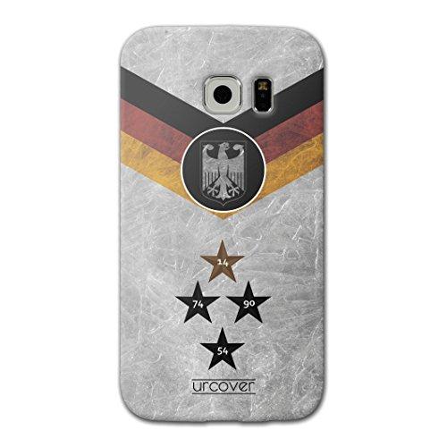 [EM SPEZIAL] Samsung Galaxy S6 Edge Plus Fussball Handyhülle mit Staubschutzkappen von original Urcover® in der UEFA EURO 2016 Edition Galaxy S6 Edge Plus Schutzhülle Case Cover Etui Europameisterschaft 2016 Fahne Fanartikel Team Deutschland
