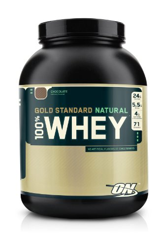 Optimum Nutrition 100% Whey Gold Standard Natural Whey, Natural Chocolate, 5 Pound