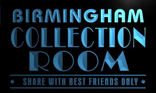Tn2147-B Birmingham Collection Room Comic Book Sports Card Neon Light Sign