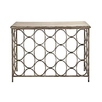 "Deco 79 18151 Metal Wood Console Table, 43"" x 33"""