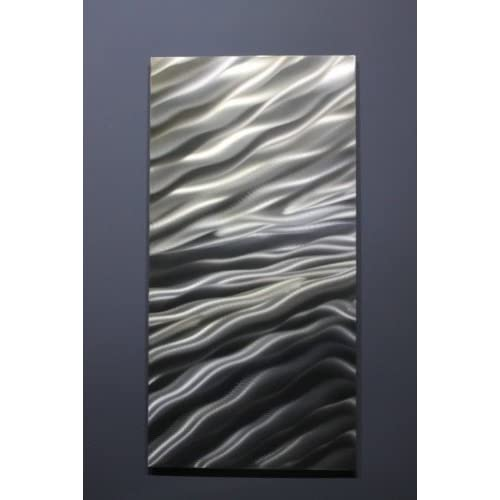 Metal Abstract Modern Silver Wall Art Decor Sculpture - Zest by Jon Allen