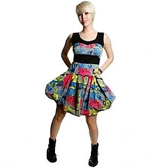 Criminal Damage Kleid THUNDER DRESS black/neon XL