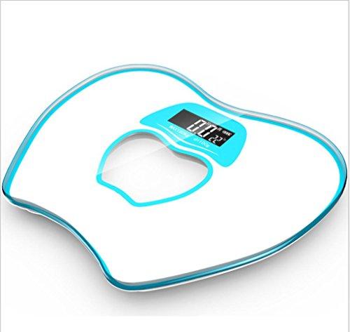GYMNLJY Bilance elettroniche Peso Bilance umano corpo Smart famiglia pesatura bilance precisa Body Fat , blue