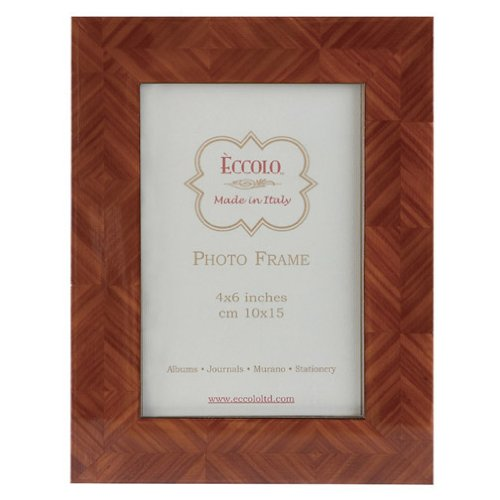 Eccolo Herringbone Parquet Tan Wood Frame, 8 by 10-Inch (Frames Italian compare prices)