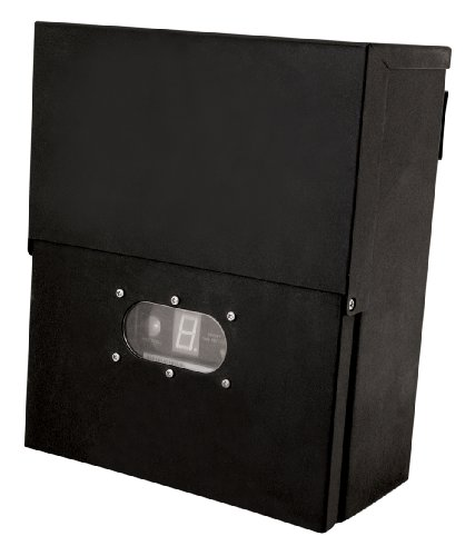 Lighting Accessories Zone Paradise Gl22007bk Metal Transformer With Photosensor And Timer Black
