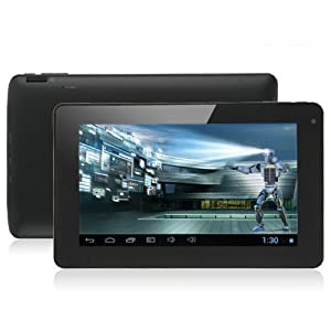 7 Inch Android 4.1 Jelly Bean Capacitive Multi-Touchscreen Widescreen 8GB Internet Tablet Dual Core 5 Point Touchscreen & Mali-400 MP GPU Tablet PC with RK3066 1.6GHz CPU 1GB DDR3 RAM WIFI HDMI With OTG Cable