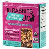 18 Rabbits Jr. Organic Gluten Free Granola Bar, Chocolate Cherry, 6-Count Box, 6.3 Ounce