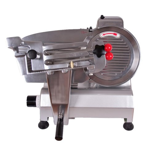 "Sanven Food And Meat Slicer 10"" Blade Simple Structure Convenient To Use Commercial Electricl Semi Automatic Slicer Meat Cheeses And Breads front-533548"