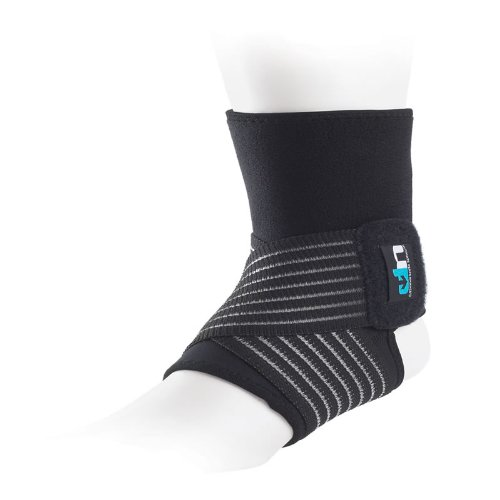 Ultimate Performance Neoprene Ankle Support w. Straps, Lightweight Adjustable Ankle Brace
