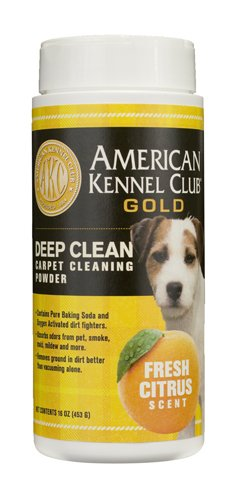 American Kennel Club Gold Deep Clean Carpet Powder, 16-Ounce, Fresh Citrus front-188385