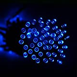 ALEKO® Solar Powered 105 LED Holiday String Lights, Blue