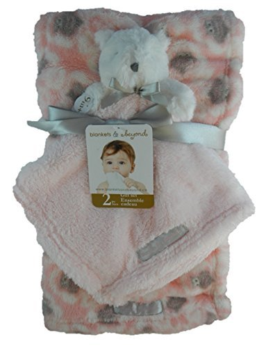 Blankets & Beyond 2 Pc Pink Blanket & Security Blanket Gift Set - 1