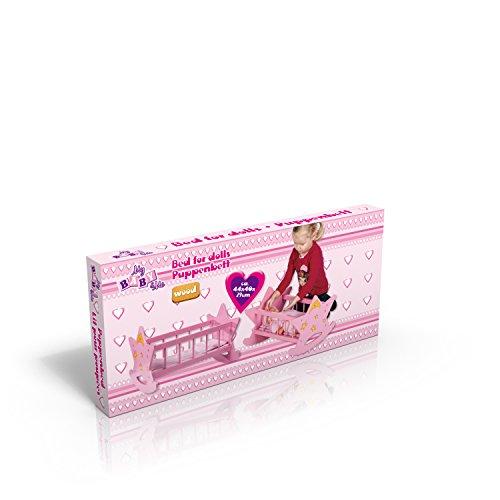 Rosa Holz Puppenbett STERN Bett Puppen