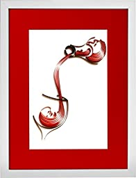 Pour me some Vino - Modern Paper Quilled Wall Art for Home Decor (one of a kind paper quilling handcrafted piece made with love by an artist in California)