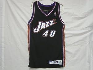 1998-99 Utah Jazz #40 Shandon Anderson Game Worn Jersey by Champion