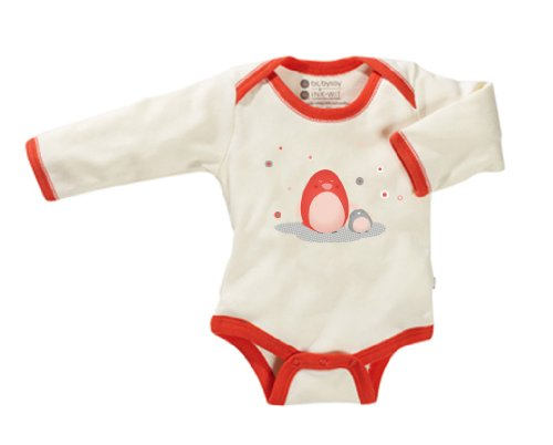 Baby Soy Illustrated O Soy Organic Bodysuit, 12-18 Months, Penguin