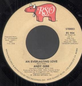 "AN EVERLASTING LOVE 7 INCH 7"" VINYL 45 US RSO 1978 by ANDY GIBB"