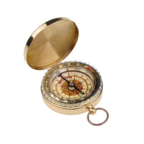 Neewer Outdoor Camping Hiking Portable Brass Pocket Golden Compass