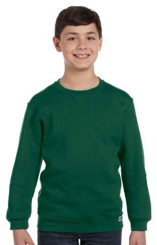 Russell Athletic Boy'S 8-20 Fleece Crew, Dark Green, Small front-943565