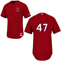 Howie Kendrick Los Angeles Angels Red Batting Practice Jersey by Majestic by Majestic