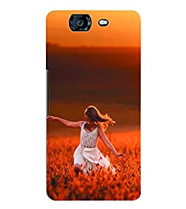 Fuson 3D Printed Beautiful Girl Designer Back Case Cover for Micromax Canvas Knight A350 - D950